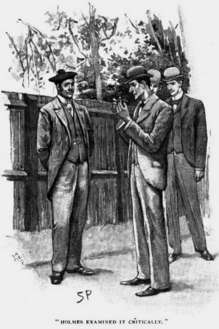 Sherlock Holmes The Naval Treaty Holmes pulled it off and examined it critically