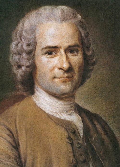 Jean-Jacques Rousseau Painting by Maurice Quentin de La Tour