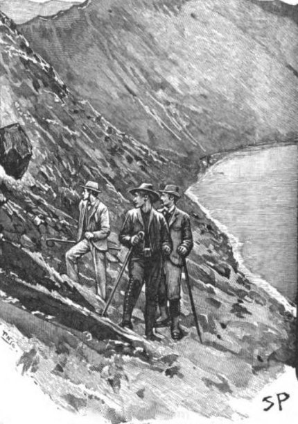 Sherlock Holmes The Final Problem a large rock which had been dislodged from the ridge upon our right clattered down