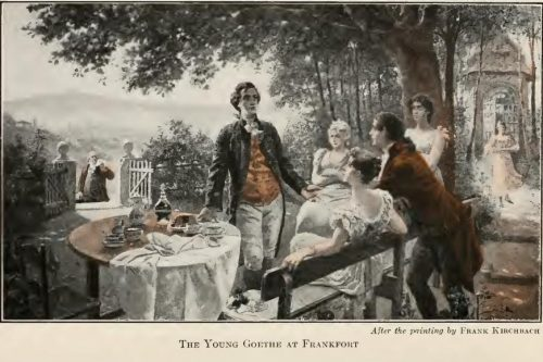 The Young Goethe at Frankfort After the painting by Frank Kirchbach