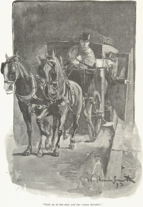 The Man from Shorrox - pulls up at the door wid the horses shmokin