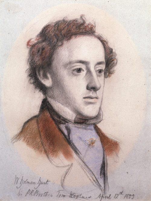 John Everett Millais Drawing by William Holman Hunt