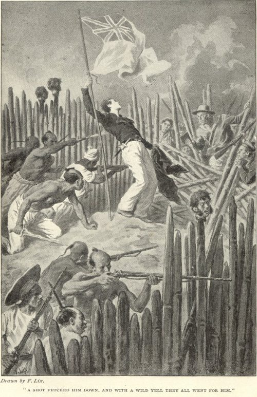 The Red Stockade - a shot fetched him down, and with a wild yell they all went for him