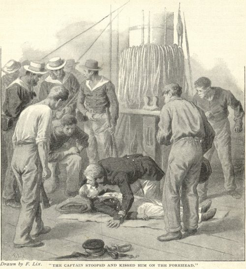 The Red Stockade - the captain stooped over and kissed him on the forehead