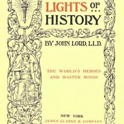 Beacon Lights of History by John Lord