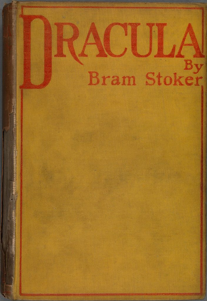 Dracula 1st Edition Cover by Bram Stoker