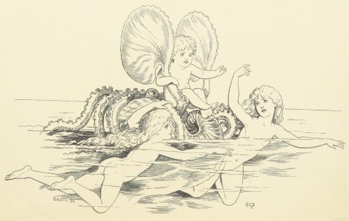 Fairies and Nautilus Illustration by E. Gertrude Thomson