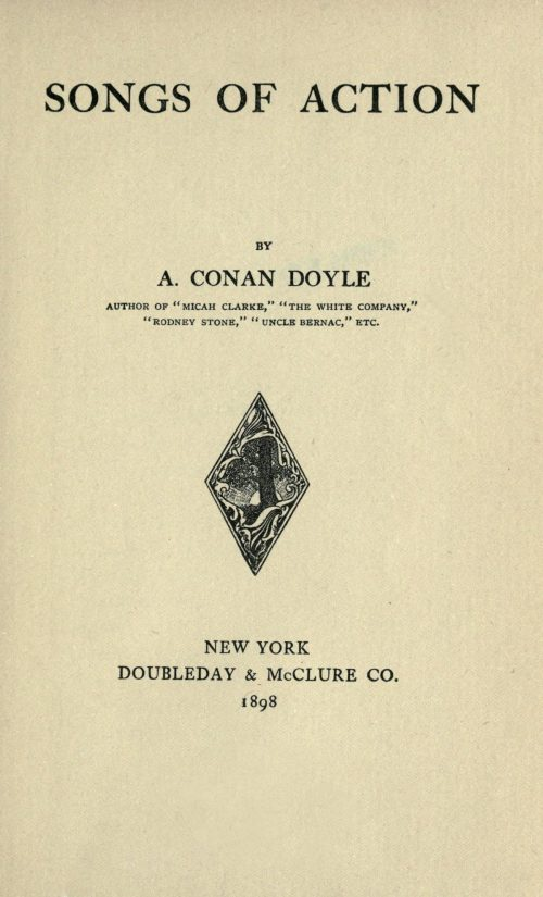 Songs of Action Poetry by A Conan Doyle