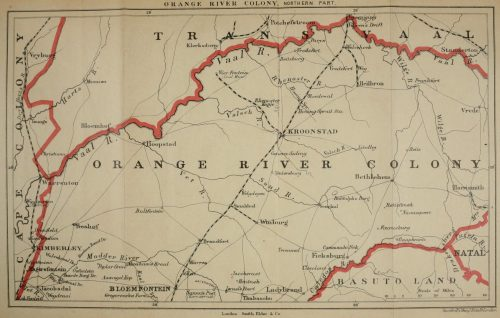 The Great Boer War Map of Orange River Colony North