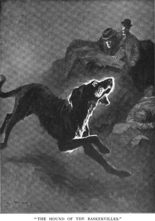 Sherlock Holmes The Hound of the Baskervilles an enormous coal-black hound