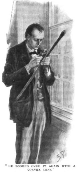 Sherlock Holmes The Hound of the Baskervilles he looked over it again with a convex lens