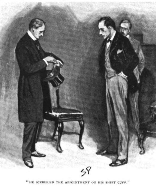 Sherlock Holmes The Hound of the Baskervilles He scribbled the appointment on his shirtcuff