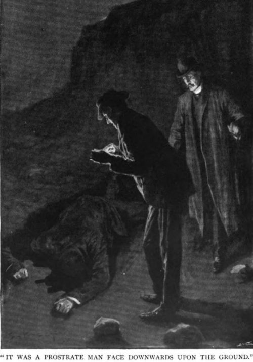 Sherlock Holmes The Hound of the Baskervilles It was a prostrate man face downward upon the ground