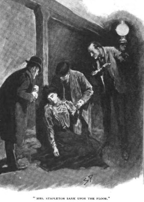 Sherlock Holmes The Hound of the Baskervilles Mrs. Stapleton sank upon the floor