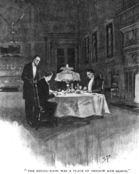 Sherlock Holmes The Hound of the Baskervilles the dining-room which opened out of the hall was a place of shadow and gloom
