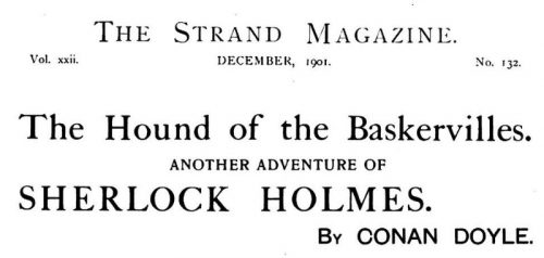 Sherlock Holmes The Hound of the Baskervilles The Strand Magazine December 1901