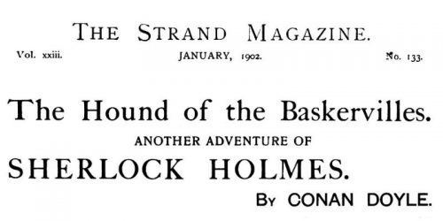 Sherlock Holmes The Hound of the Baskervilles The Strand Magazine January 1902