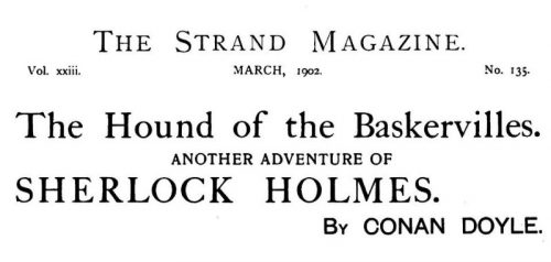 Sherlock Holmes The Hound of the Baskervilles The Strand Magazine March 1902