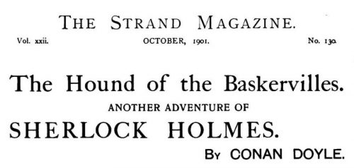 Sherlock Holmes The Hound of the Baskervilles The Strand Magazine October 1901