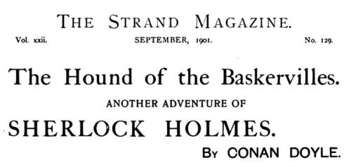Sherlock Holmes The Hound of the Baskervilles The Strand Magazine September 1901