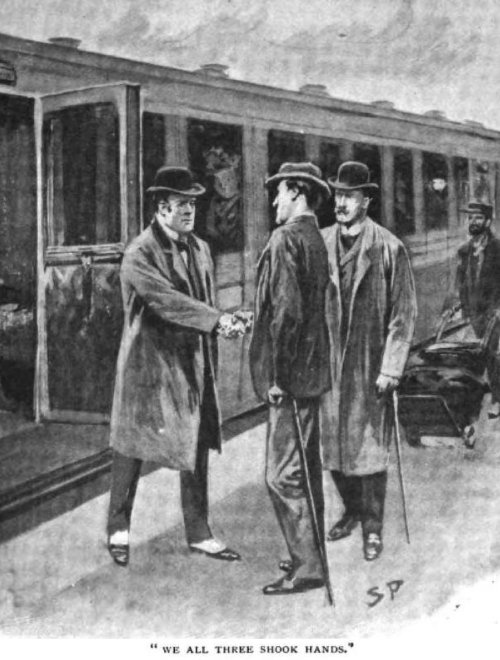 Sherlock Holmes The Hound of the Baskervilles We all three shook hands