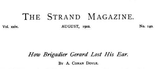 How Brigadier Gerard Lost His Ear The Strand Magazine