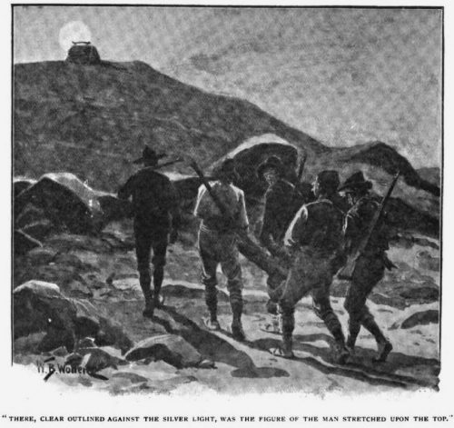 How the Brigadier Saved the Army there, clear outlined against its silver light, was the figure of the man stretched upon the top