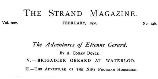 Brigadier Gerard at Waterloo The Nine Prussian Horsemen The Strand Magazine