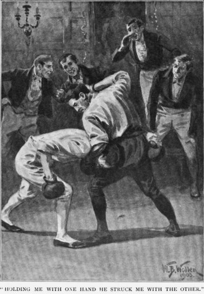 How the Brigadier Triumphed in England holding me with one hand he struck me with the other