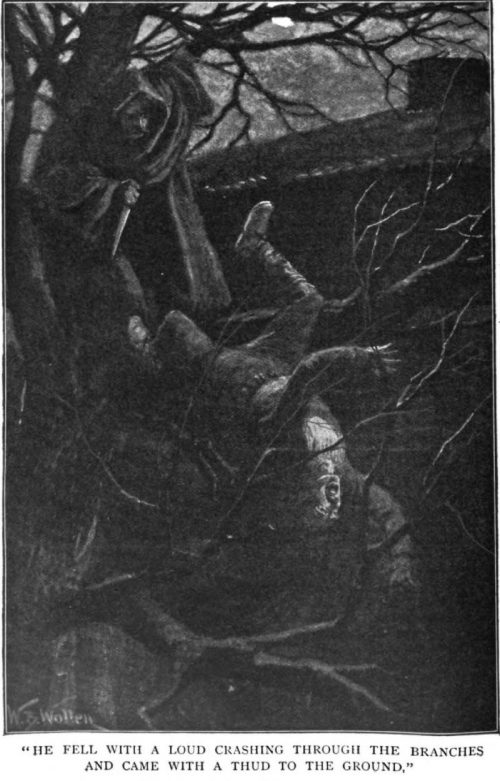 How the Brigadier Captured Saragossa he fell with a loud crashing through the branches and came with a thud to the ground