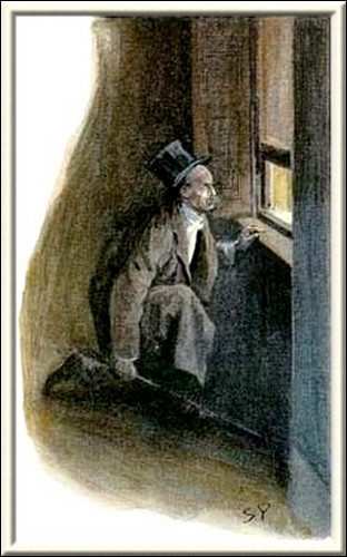 Sherlock Holmes The Empty House the light of the street, no longer dimmed by the dusty glass, fell full upon his face