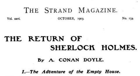 Sherlock Holmes The Empty House