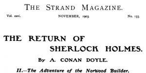 Sherlock Holmes The Norwood Builder