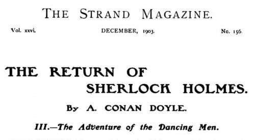 Sherlock Holmes The Dancing Men