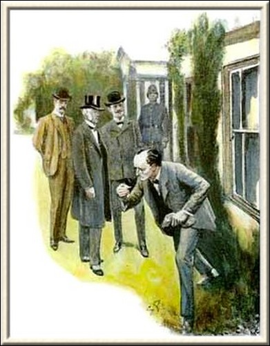 Sherlock Holmes The Dancing Men he bent forward and picked up a little brazen cylinder