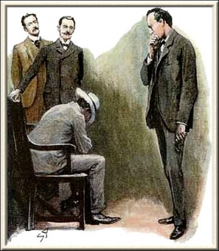 Sherlock Holmes The Dancing Men he buried his face in his manacled hands