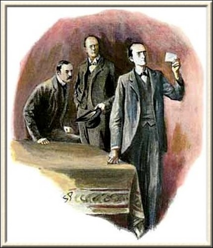 Sherlock Holmes The Dancing Men Holmes held up the paper