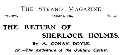 Sherlock Holmes The Solitary Cyclist