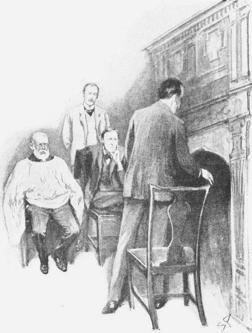 Sherlock Holmes The Solitary Cyclist Holmes rose and tossed the end of his cigarette into the grate