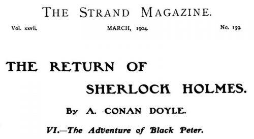 Sherlock Holmes Black Peter