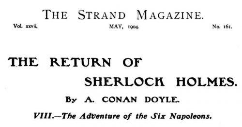 Sherlock Holmes The Six Napoleons