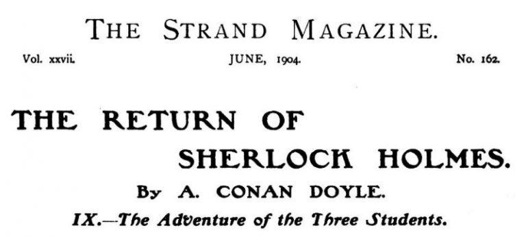 Sherlock Holmes The Three Students