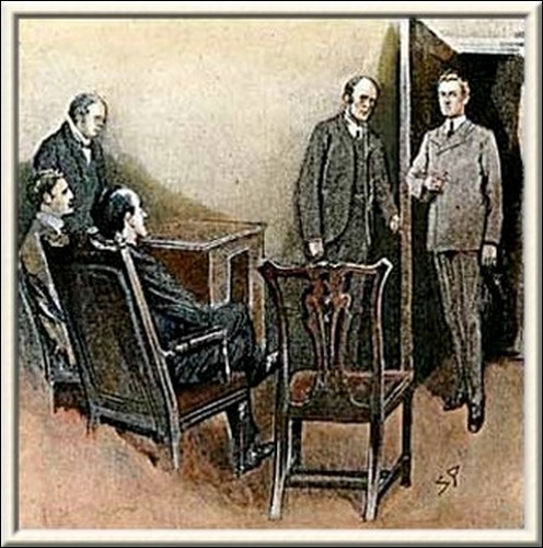 Sherlock Holmes The Three Students An instant later the tutor returned, bringing with him the student