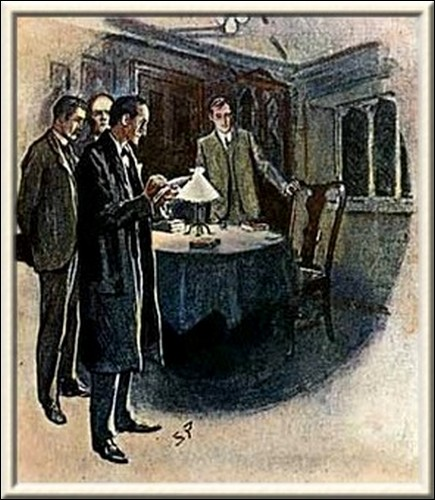 Sherlock Holmes The Three Students He insisted on drawing it in his note-book