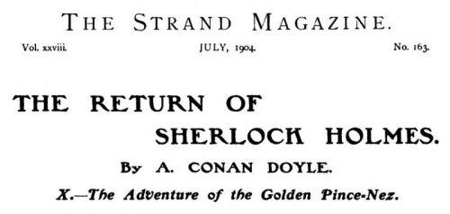 Sherlock Holmes The Golden Pince-Nez