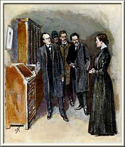 Sherlock Holmes The Golden Pince-Nez Did you dust this bureau yesterday morning?