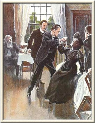 Sherlock Holmes The Golden Pince-Nez Holmes had bounded across the room and had wrenched a small phial from her hand