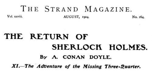 Sherlock Holmes The Missing Three-Quarter