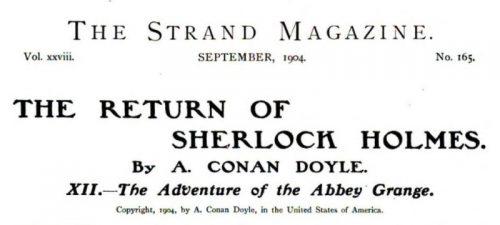 Sherlock Holmes The Abbey Grange