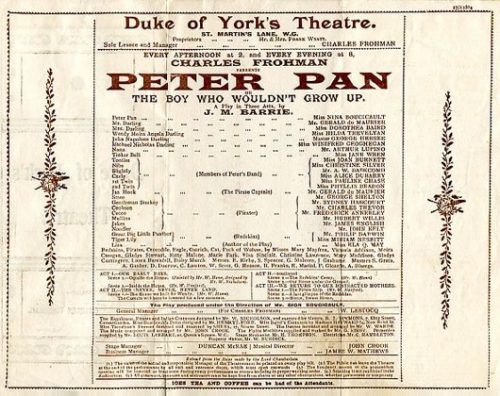 Peter Pan Play at the Duke of York Theatre